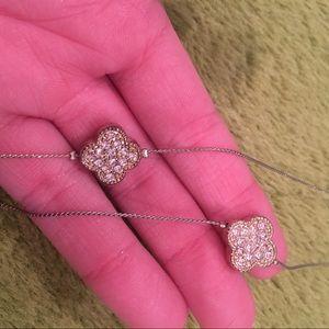 Clover Shaped Rhinestone Necklace